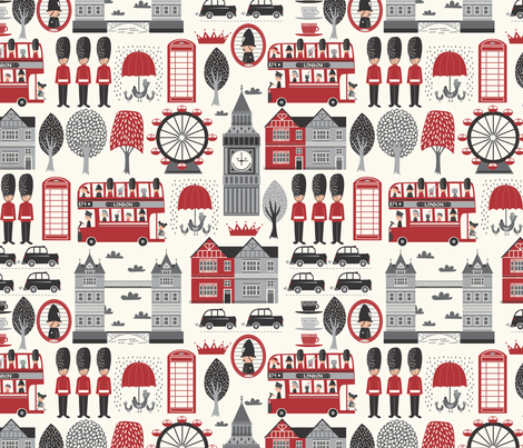 LONDON_CALLING_CONVERSATIONAL fabric by stacyiesthsu on Spoonflower - custom fabric