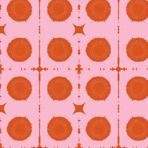 XOXO/pink & orange