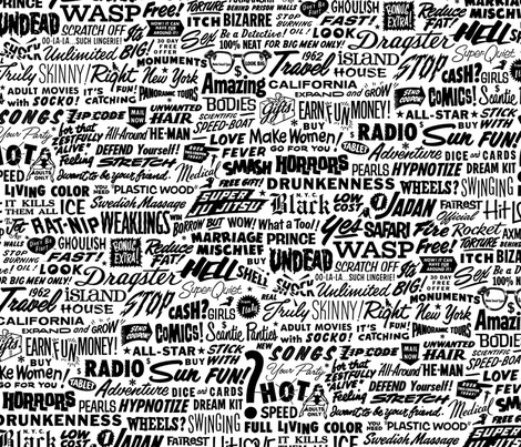 Vintage Words  fabric by ben_goetting on Spoonflower - custom fabric