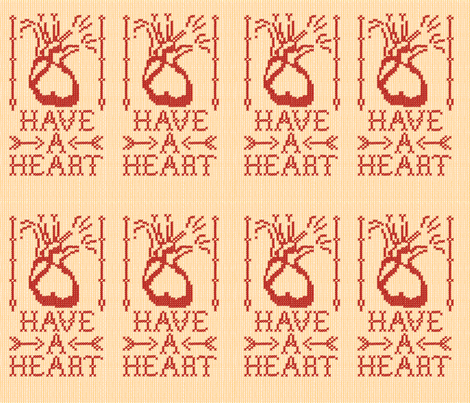 Have_a_Heart fabric by relk on Spoonflower - custom fabric
