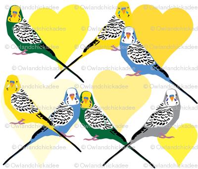 I Heart Budgies - Yellow