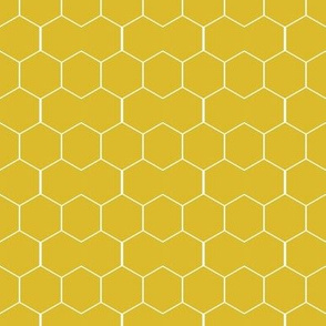 Honeycomb in Golden Yellow