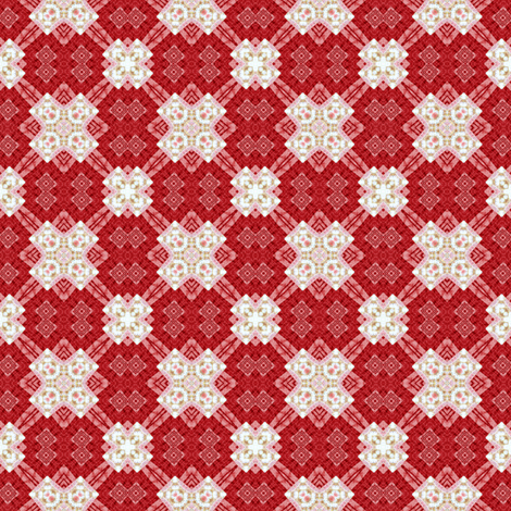 Patchwork: Multiplier Effect - Red fabric by tallulahdahling on Spoonflower - custom fabric
