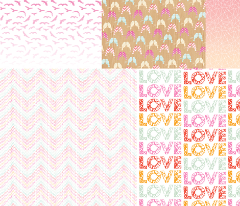 LOVE collage fabric by allisonkreftdesigns on Spoonflower - custom fabric