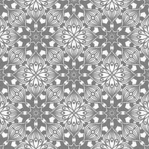 Kaleidoscopic Onion - Gray