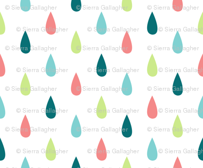 Large Colourful Raindrops Vertical