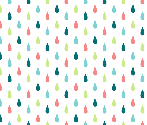 Large Colourful Raindrops Vertical fabric by sierra_gallagher on Spoonflower - custom fabric