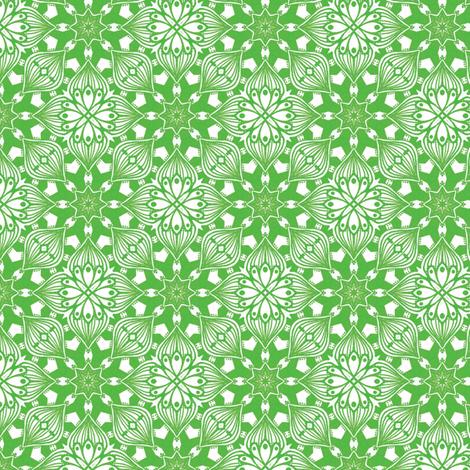 Kaleidoscopic Onion - Green fabric by siya on Spoonflower - custom fabric
