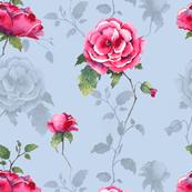 Floral Fairytale - Sky Blue