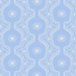 Lace Starburst Hand Drawn on Periwinkle