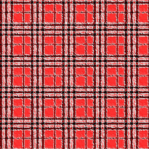 RED HAM AND EGGS PLAID