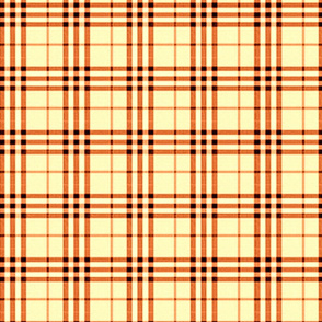 ORANGE SHERBERT PLAID