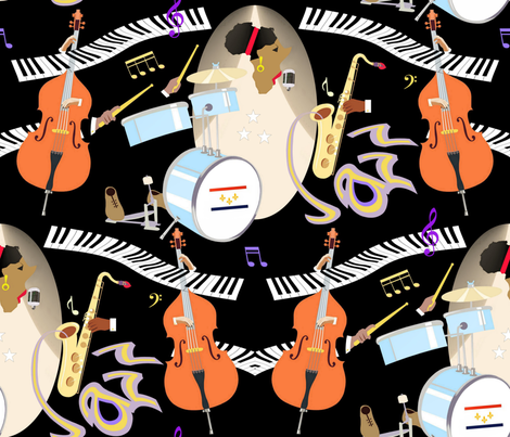 History_of_jazz fabric by alfabesi on Spoonflower - custom fabric