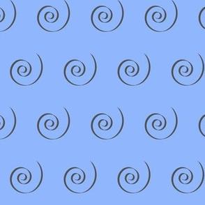 Cinderella Swirl -Blue
