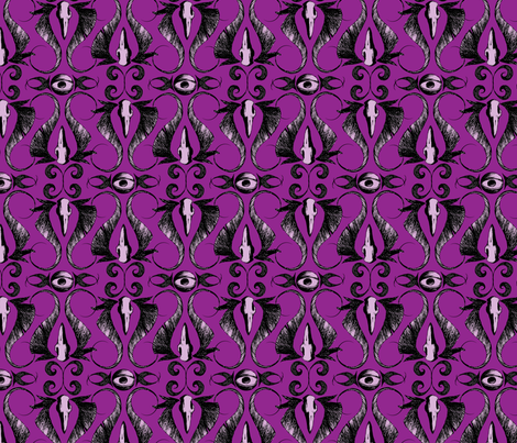 occularis - purple fabric by thecalvarium on Spoonflower - custom fabric