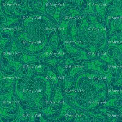 Rouba's Green Brocade