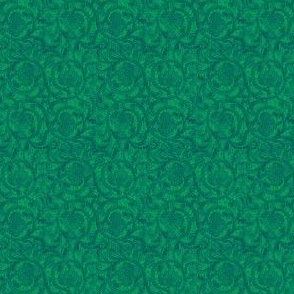 Rouba's Green Brocade
