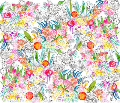 Botanical Sketchbook - Large Scale Print