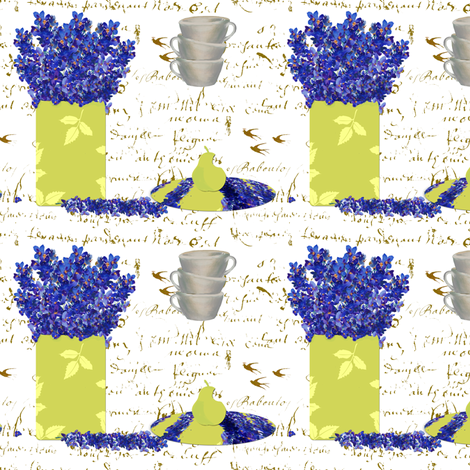 Kitchen Delphinium fabric by karenharveycox on Spoonflower - custom fabric