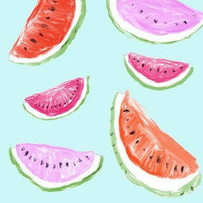 Watercolor Watermelons // Mint