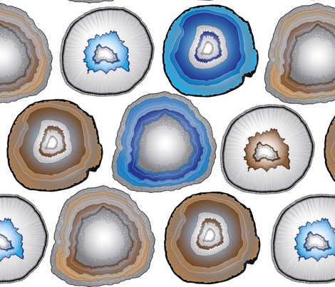 Geode fabric by colleen_currans_bush on Spoonflower - custom fabric