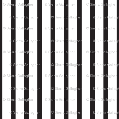 Black and White Stripes Vertical