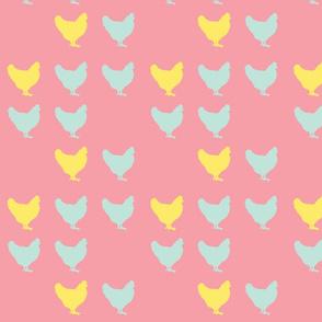 pale pink hens