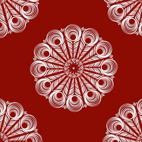 ChineseMandala - dark red