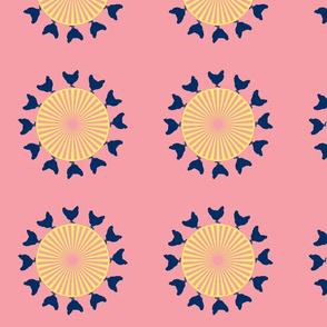 pink hen wheel