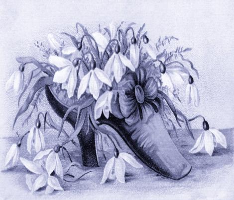 VICTORIAN SHOE PILLOW fabric by bluevelvet on Spoonflower - custom fabric