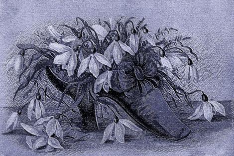 VICTORIAN SHOE LINEN PILLOW fabric by bluevelvet on Spoonflower - custom fabric