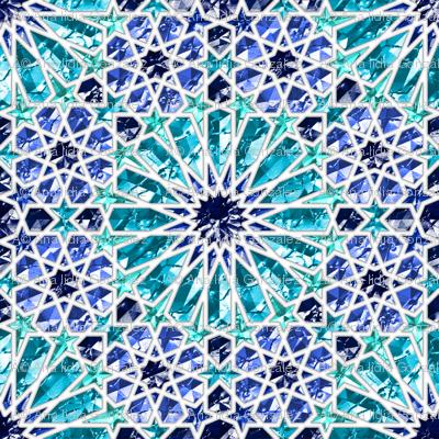 Geometric gemstones (sapphire)