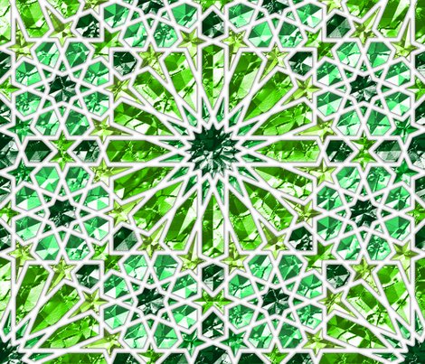 Geometric gemstones (emerald) fabric by analinea on Spoonflower - custom fabric