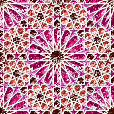 Geometric gemstones (garnet and ruby)