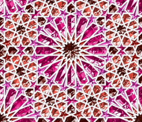 Geometric gemstones (garnet and ruby) fabric by analinea on Spoonflower - custom fabric