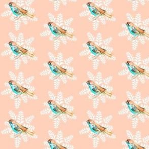 Peach Blue Songbird on Peachy