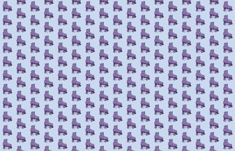 Purple Roller Skate Repeat fabric by kathys_impressions on Spoonflower - custom fabric