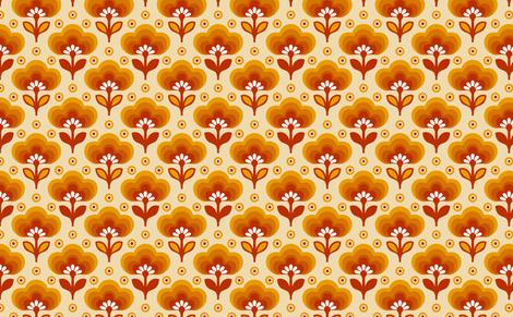 littledaisyorange fabric by myracle on Spoonflower - custom fabric