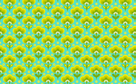 littledaisyblueyellow fabric by myracle on Spoonflower - custom fabric
