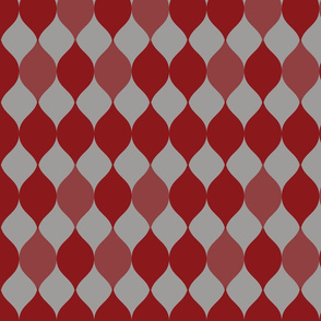 Ogee design_dark red on grey