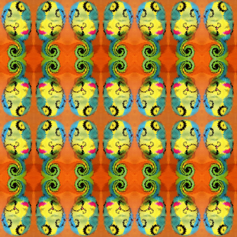 aqua_head_swirl fabric by kristinrose on Spoonflower - custom fabric