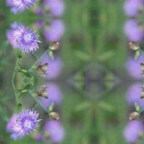 Mauve Floral Weave