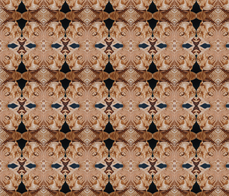 Sphynx Painting Abstracted Triangles fabric by glamourpuss on Spoonflower - custom fabric