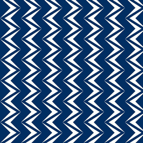 nested chevron modern white - navy