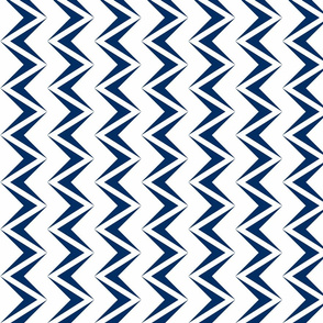 nested chevron modern navy - white