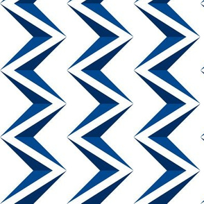 nested chevron 3D blue