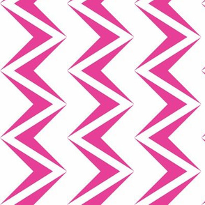 nested chevron modern pink - white