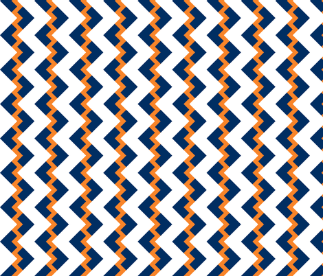 Chevron nested two frequency orange - navy - white fabric by arm_pillozzz on Spoonflower - custom fabric