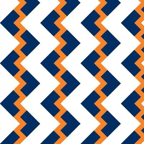 Chevron nested two frequency orange - navy - white