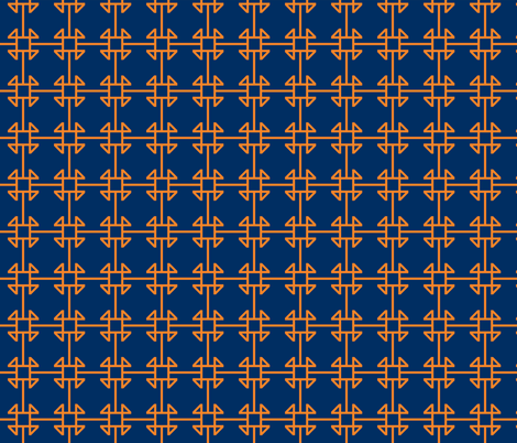 square knot orange - navy fabric by arm_pillozzz on Spoonflower - custom fabric